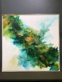 Aquarellmalerei, Farben, Acrylmalerei, Grün
