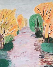 Landschaft, Herbst, Baum, Wald
