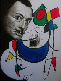 Treffen, Dalí, Malerei
