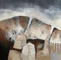 Acrylmalerei, Landschaft, Abstrakt, Tuschmalerei