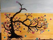 Fantasie, Abstrakt, Perlenbaum, Malerei