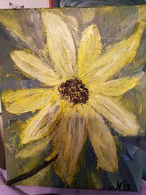 Sonnenblumen, Fantasie, Acrylmalerei, Malerei