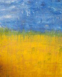 Himmel, Sonnenblumen, Feld, Blau