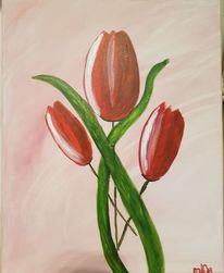 Tulpen, Blumen, Acrylmalerei, Malerei