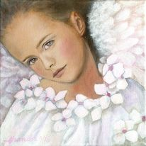Engel, Geburtstag, Gemälde, Modern art