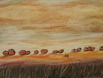 Natur, Feld, Menschen, Malerei