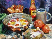 Spiegelei, Frühstück, Studie, Malerei