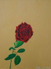 Malerei, Rose,