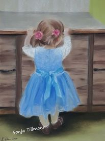 Malerei, Menschen, Ballerina, Pastellmalerei