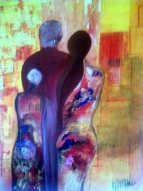 Spachtel, Acrylmalerei, Tupftechnik, Malerei
