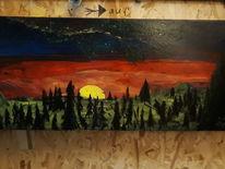 Farben, Licht, Landschaft, Malerei