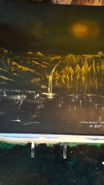 Landschaft, Licht, Modern art, Malerei