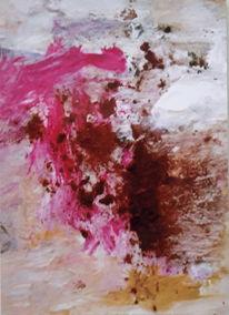 Abstrakt, Rosa, Braun, Malerei