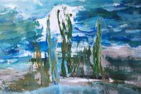 Grau, Blau, Grün, Malerei