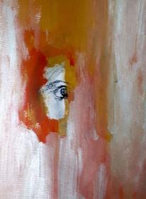 Rot, Frau, Gesicht, Malerei