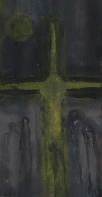 Kreuz, Frau, Jesus, Malerei