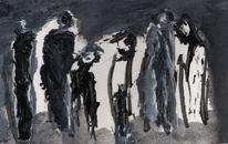 Schwarz, Weiß, Gesellschaft, Malerei
