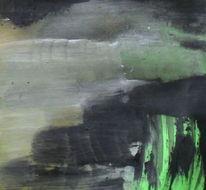 Gefangen, Schwarz, Grün, Malerei