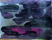 Blau, Lila, Lava, Malerei