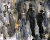 Menschen, Esel, Schwarz, Weiß