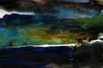 Himmel, Blau, Landschaft, Malerei