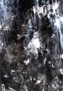 Schwarz, Weiß, Abstrakt, Malerei