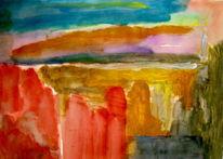 Malerei, Felsen, Rot