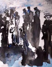 Weiß, Menschen, Schwarz, Malerei