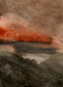 Rot, Stille, Grau, Malerei