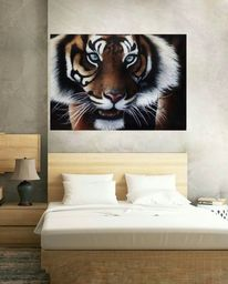 Tiger, Tierwelt, Natur, Acrylmalerei