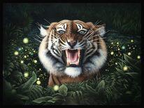 Tierwelt, Tiger, Acrylmalerei, Malerei