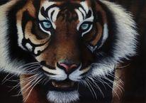 Tiger, Acrylmalerei, Deco, Wildlive