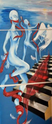 Freiheit, Acrylmalerei, Realität, Frau