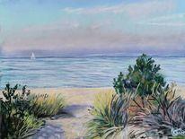 Strand, Sommer, Weg, Baabe