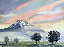 Nebel, Morgenröte, Morgenstimmung, Fujiyama