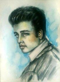 Portrait, Berühmt, Aquarellmalerei, Musiker
