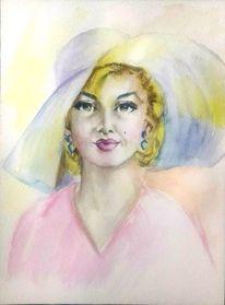 Porträtmalerei, Schauspieler, Aquarellmalerei, Gesicht