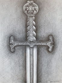 Schwert, Bleistiftzeichnung, Zeichnungen