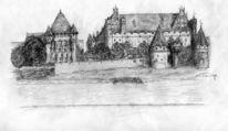 Bleistiftzeichnung, Zeichnung, Landschaft, Zeichnen