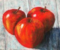 Apfel, Rot, Stillleben, Malerei