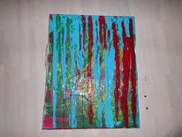 Acrylmalerei, Abstrakt, Bunt, Dekoration
