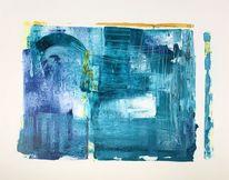 Modern art, Blau, Acrylmalerei, Abstrakt