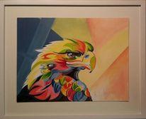 Modern, Adler, Malerei, Tiere
