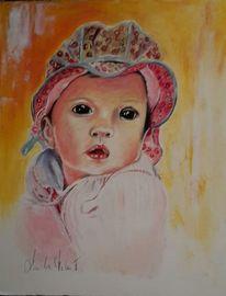 Malerei, Portrait, Baby