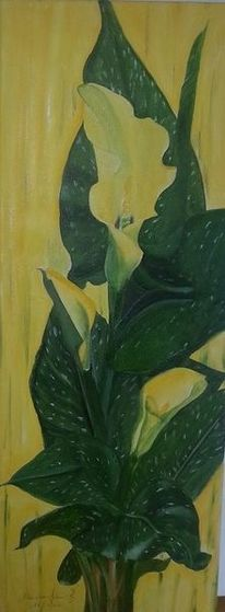Modern, Malerei, Calla, Blumen