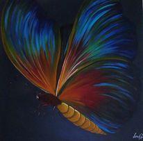 Esszimmer, Schmetterling, Blau, Acrylmalerei