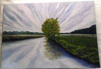 Wasser, Grün, Malerei, Norddeutschland