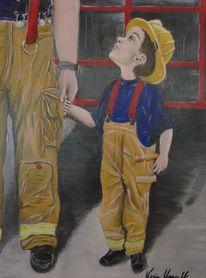 Feuerwehr, Löschen, Wandbild, Jugendfeuerwehr