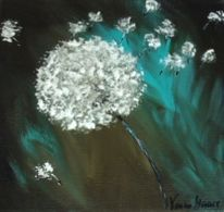 Gelb, Pusteblumen, Modern art, Malerei