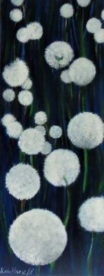 Baum, Malerei, Winter, Blumen